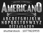 font alphabet script typeface...   Shutterstock .eps vector #1077823955