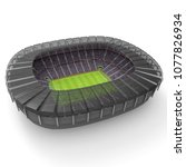 stadium imaginary 3d rendering | Shutterstock . vector #1077826934