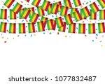 mali flag garland white...   Shutterstock .eps vector #1077832487