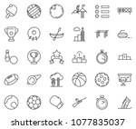 thin line icon set   success...   Shutterstock .eps vector #1077835037