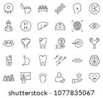 thin line icon set   idea... | Shutterstock .eps vector #1077835067