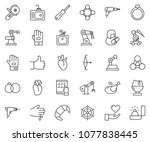 thin line icon set   tablet pc... | Shutterstock .eps vector #1077838445