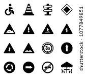 solid vector icon set  ... | Shutterstock .eps vector #1077849851