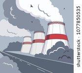vector illustration of smoking...   Shutterstock .eps vector #1077850535