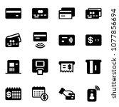 solid vector icon set   credit... | Shutterstock .eps vector #1077856694