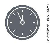time piece wall clock  | Shutterstock .eps vector #1077858251