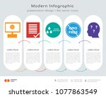 infographics design vector and... | Shutterstock .eps vector #1077863549