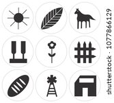 set of 9 simple editable icons... | Shutterstock .eps vector #1077866129