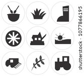 set of 9 simple editable icons... | Shutterstock .eps vector #1077866195