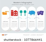 infographics design vector and  ... | Shutterstock .eps vector #1077866441