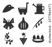 set of 9 simple editable icons... | Shutterstock .eps vector #1077866471