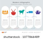 infographics design vector and... | Shutterstock .eps vector #1077866489