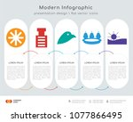 infographics design vector and  ... | Shutterstock .eps vector #1077866495
