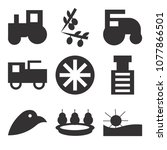 set of 9 simple editable icons... | Shutterstock .eps vector #1077866501