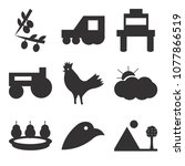set of 9 simple editable icons... | Shutterstock .eps vector #1077866519