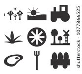 set of 9 simple editable icons... | Shutterstock .eps vector #1077866525