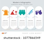 infographics design vector and  ... | Shutterstock .eps vector #1077866549