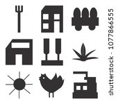 set of 9 simple editable icons... | Shutterstock .eps vector #1077866555
