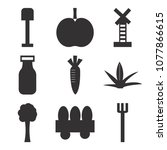set of 9 simple editable icons... | Shutterstock .eps vector #1077866615