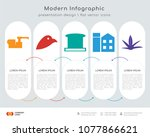 infographics design vector and  ... | Shutterstock .eps vector #1077866621