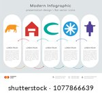 infographics design vector and... | Shutterstock .eps vector #1077866639