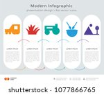 infographics design vector and... | Shutterstock .eps vector #1077866765