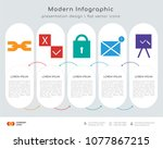 infographics design vector and... | Shutterstock .eps vector #1077867215