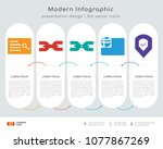 infographics design vector and... | Shutterstock .eps vector #1077867269