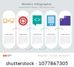 infographics design vector and  ... | Shutterstock .eps vector #1077867305