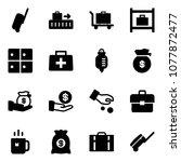 solid vector icon set  ... | Shutterstock .eps vector #1077872477