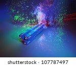 fibre optics on a technology...   Shutterstock . vector #107787497