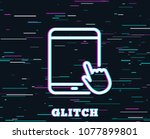 glitch effect. tablet pc icon....   Shutterstock .eps vector #1077899801