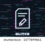 glitch effect. edit document...