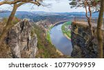 view from the bastei on the... | Shutterstock . vector #1077909959