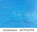 old paint blue wooden panels.... | Shutterstock . vector #1077913799