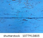old paint blue wooden panels.... | Shutterstock . vector #1077913805
