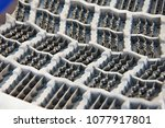 metal mold for casting rubber... | Shutterstock . vector #1077917801