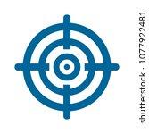 target goal icon  target focus... | Shutterstock .eps vector #1077922481