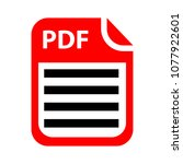 download pdf document icon  ... | Shutterstock .eps vector #1077922601