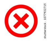 delete icon   no sign  close... | Shutterstock .eps vector #1077922715