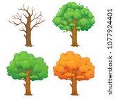 cartoon illustration of a tree... | Shutterstock .eps vector #1077924401