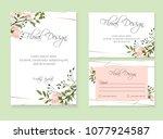banner on flower background.... | Shutterstock .eps vector #1077924587