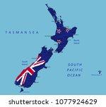 new zealand highly detailed... | Shutterstock .eps vector #1077924629