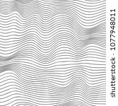 wave lines pattern abstract...   Shutterstock .eps vector #1077948011