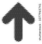 halftone dot arrow direction... | Shutterstock .eps vector #1077965741