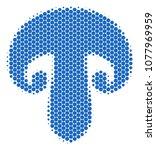 halftone dot champignon... | Shutterstock .eps vector #1077969959