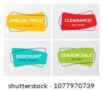 collection of modern sale... | Shutterstock .eps vector #1077970739