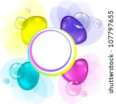color abstract with transparent ... | Shutterstock .eps vector #107797655
