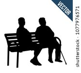 Two Elderly Woman Silhouettes...