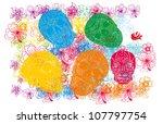 skull and flower   Shutterstock .eps vector #107797754